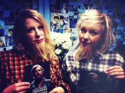 With beard - Angela Wand and Rebecca Westholm